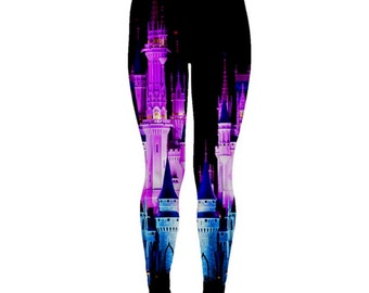 Cinderella Castle Nighttime Inspired Leggings