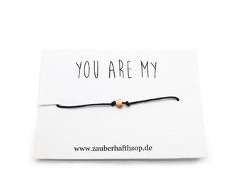 Rose gold heart bracelet map