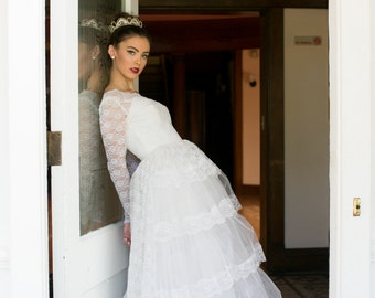 50's Lace Wedding Ball Gown