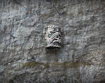 Viking Beard Beads in Jelling Style 10mm (silver-plated) viking beard, beard ring, hair ring