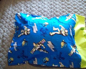 Toys Story Pillowcase - Buzz - Woody - Pillowcase - Blue - Green -