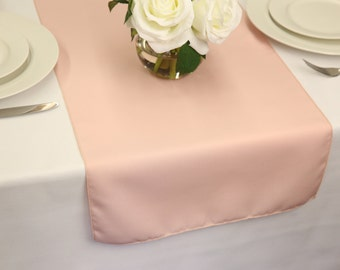 Blush Polyester Table Runner | Wedding Table Runners