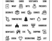 """Ms. Kimm Creates PLAN HOLIDAYS 4""""X4 Photopolymer Clear Stamp Set - Journal, Planner, Christmas, Holidays"""
