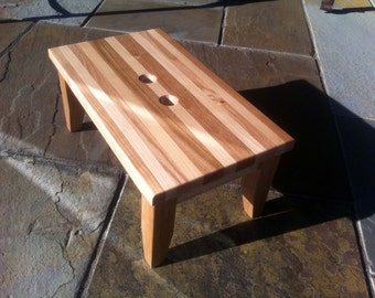Hardwood Step Stool Cherry Maple and Oak