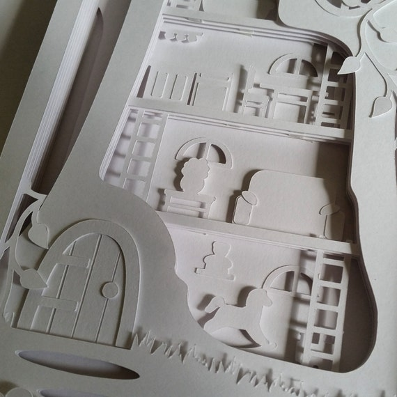 Tree House Cut Your Own 3D Shadow Box Layered Papercutting