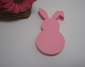 48 Piece Floppy Ear Bunny Die Cuts, Rabbit Die Cuts,  4inches X 2.26 VTC-0129