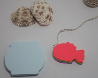 Fish & Fish Bowls Die Cuts 60 Piece Set.  VTC-0125