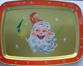 Set of Three 1960s Tin Christmas Trays