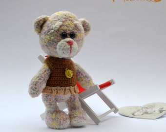 Bear Gina, Amigurumi, crochet bear, Teddy bear