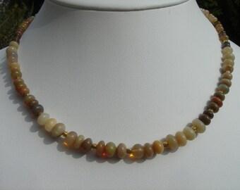 Noble Opal Necklace! 585-er gold!