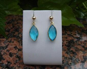 Stunning blue topaz in 585-er Goldfilled earrings!