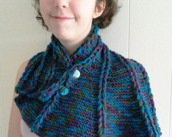 Knitted Dragon Wing Scarf