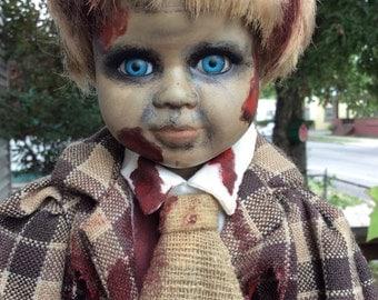 Zombie Doll, Little boy, blue eyes