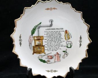 ON SALE A Kitchen Prayer decorative wall plate