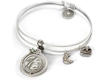 Zodiac Bracelet, Aquairus Bracelet, Capricorn Bracelet, Aquarius Jewelry, Zodiac, Astrology Jewelry, Zodiac Jewelry, Birthday Bracelet BR369