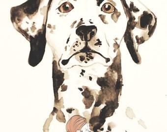 Dog Portrait: Dalmatian (print)