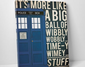 Doctor Who poster Tardis Quote poster Doctor Who alternative poster Dr Who Space poster Science Fiction poster Quote poster