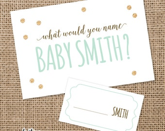 What Would You Name Baby Cards | Baby Shower