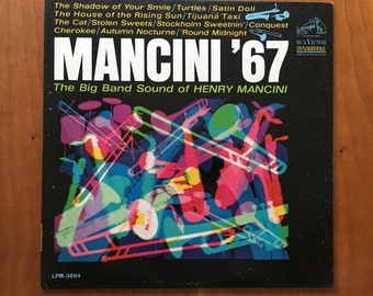 Mancini 67 - Henry Mancini and his orchestra vintage fifties 50s 1950s LP record sixties 60s 1960s