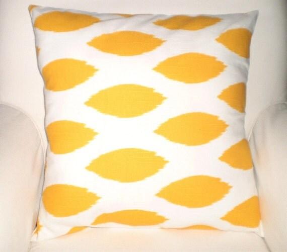 Yellow Decorative Throw Pillows : Yellow Decorative Throw Pillow Covers by PillowCushionCovers