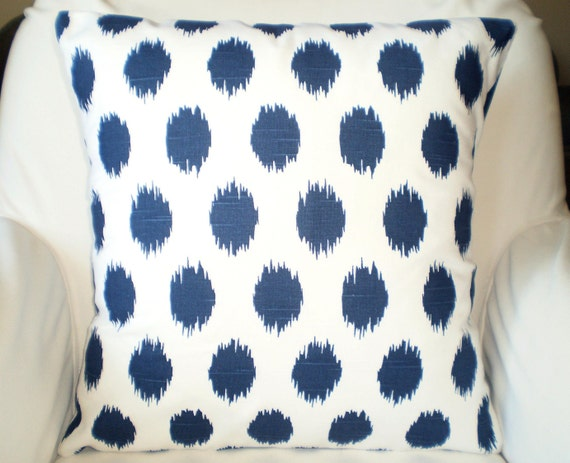 Navy Blue Decorative Pillow Covers : Navy Blue Pillow Covers Decorative Throw by PillowCushionCovers