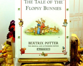 The Tale of The Flopsy Bunnies by Beatrix Potter Beautiful Illustrations Vintage Hardback Book 1st Edition Thus