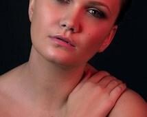 bracelet CORAIL LADYGUM couleur corail avec un strass, rouge, motifs, fleur, tattoo, accessoire, accessoire de mode, femme, bijou, manchette