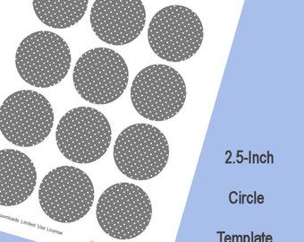 2.5-Inch Circle Template, Digital Download