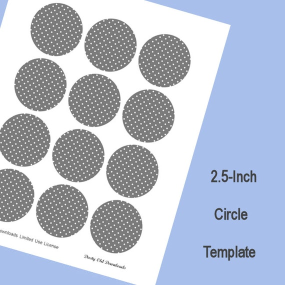 2 5 inch circle template digital download from for 1 inch diameter circle template