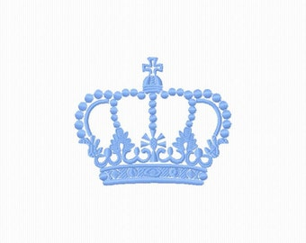 Embroidery to machine embroider a format 4 x 4 2 Crown. sizes