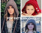 Pixie Hat - PDF PATTERN ONLY - 3 year to Adult