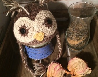 Crochet Owl - All sizes - Made to order - Custom colors just for you
