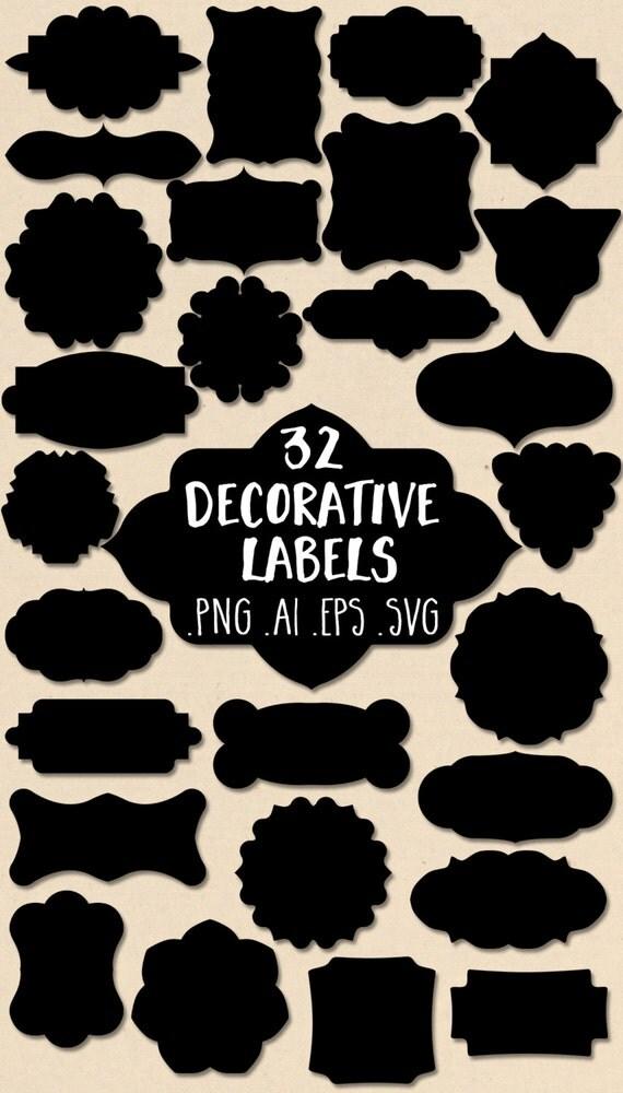 Vector label clipart labels clip art decorative label for Decorative labels for printing