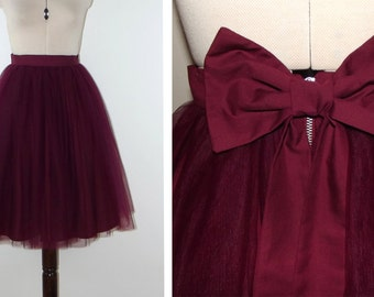 BERRY tulle knee length prom skirt prom, bridal, bridesmaid, christmas party, New Years, wedding