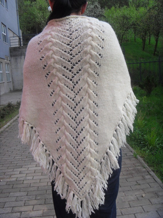 Knitting Pattern Blanket Wrap : Knitted Shawl Knitted Wrap Blanket scarf Maternity Clothing
