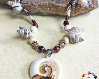 Maori Tribal Spiral Necklace