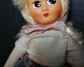 1950's Mask faced doll 12 inches