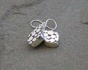 Balinese Sterling Silver Earrings, Bali Bead Earrings, Silver Dangles, Sterling Silver Drop Earrings, Balinese Jewelry, Bali Silver Beads