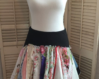 Blessings Be~ Vintage Handkerchiefs,Med, Upcycled, Repurposed, OOAK,BoHo, Romantic,