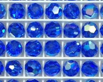 Swarovski Sapphire AB Round 7mm Article 5000 8 pieces