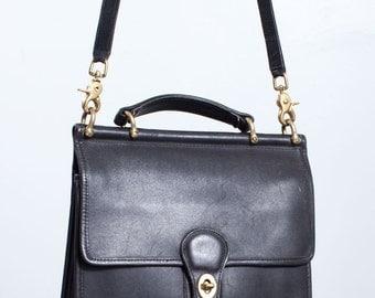 Vintage Black Coach Willis Bag