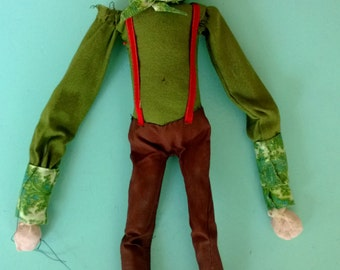 Vintage Handmade Marionette Puppet Pretty Creepy Free Shipping