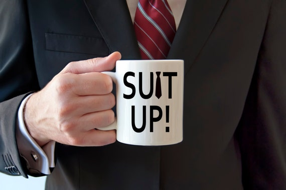 SUIT UP | How I Met Your Mother | Funny Gift | Message Mugs | 11 oz.