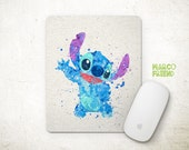disney lilo and stitch watercolor poster prints, watercolor art, watercolor accessories, watercolor mousepad [36]