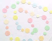Pastel Circles Paper Garland, Easter, Spring, Wedding