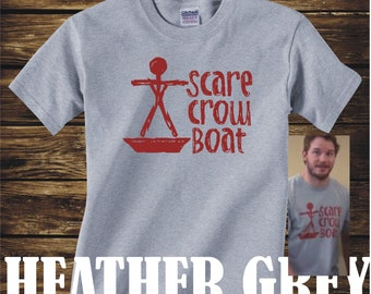 ON SALE - Scarecrow Boat Band Tshirt from Parks and Recreation scare crow boat mouse rat- Adult sizes - fun Tv Chris Pratt Andy Dwyer