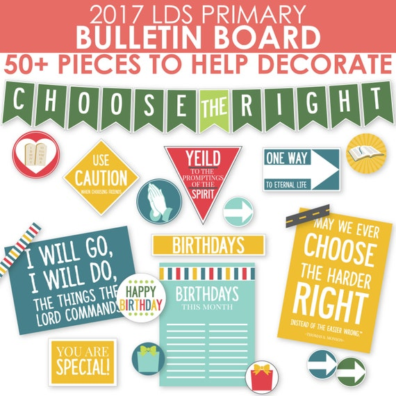 2017 lds primary bulletin board printable kit by for Idea door primary printables
