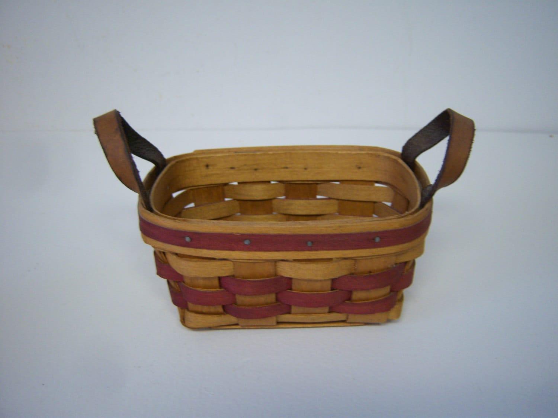 Handmade Baskets In Pa : Bradford basket vintage handmade troy pa