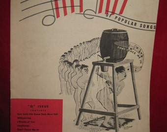 "Army Navy Hit Kit of Popular Songs, military songbook, ""Q"" Isuue, WWII music"