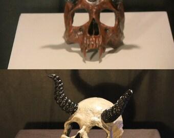 Demon Devil Skull Prop relic occult demonology Haunt Horror Halloween Decoration